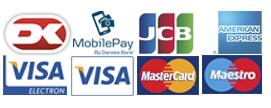 napavalley.dk modtager følgende betalingskort